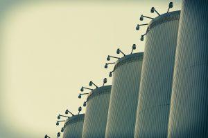 Grains storage in silos