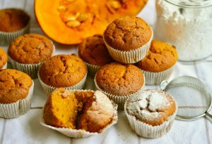 Home-made pumpkin muffins