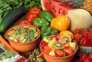 Freshly prepared fruits and vegetables