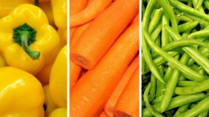 Yellow and green vegetables