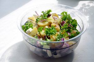 Full salad with potatoes