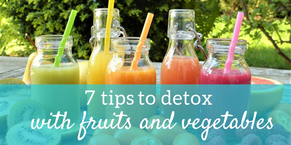 Detox with fruits and vegetables