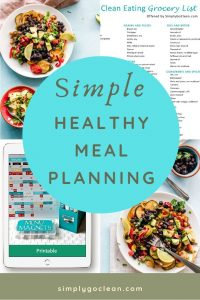 Simple Healthy Meal Planning Pin